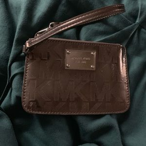 Handbags - Michael Kors Metallic Silver Wristlet